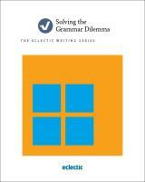 Solving the Grammar Dilemma Book Cover