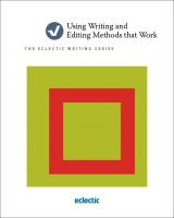 Using Writing and Editing Methods That Work Book Cover